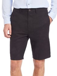 Vince Relaxed Linen Blend Shorts Black