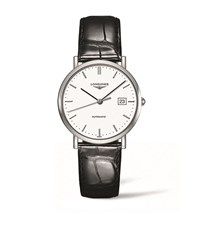 Longines Elegant Collection Stainless Steel Watch Unisex Black