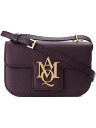 Alexander Mcqueen 'Insignia' Chain Satchel Pink And Purple