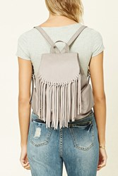 Forever 21 Faux Leather Fringe Backpack