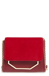 Louise Et Cie 'Towa Micro' Colorblock Leather Bag Red Red Garnet Rosewood
