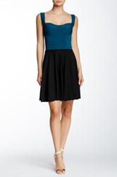 Nadia Tarr Bustier Fit And Flare Circle Skirt Blue