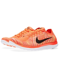 Nike Free Flyknit 4.0 V2 Bright Crimson And Hot Lava