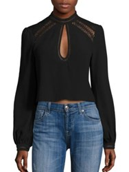 Tularosa Coco Lace And Keyhole Detail Blouse Black