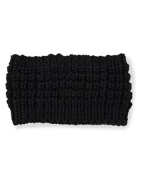 Hat Attack Textured Knit Headband Black