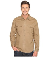 Royal Robbins Brushed Back Twill Work Shirt Cocoa Men's Long Sleeve Button Up Brown