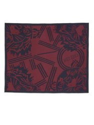 Kenzo Printed Scarf Red Multi