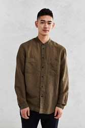 Cpo Banded Collar Two Pocket Shirt Olive