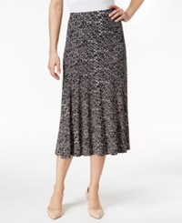Jm Collection Petite Printed A Line Skirt Only At Macy's Black City Blocks