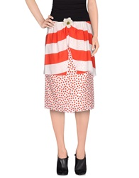 Denny Rose 3 4 Length Skirts Red