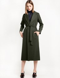Pixie Market Olive Long Robe Coat