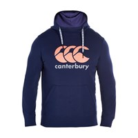 Canterbury Of New Zealand Vapodri Large Logo Over The Head Hoodie Navy
