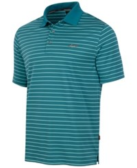 Greg Norman For Tasso Elba Big And Tall 5 Iron Performance Striped Golf Polo Dragonfly Blue
