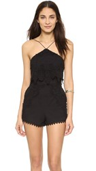 The Jetset Diaries Paradise Romper Black