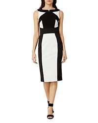 Karen Millen Monochrome Pencil Dress Black White