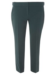 Dorothy Perkins Green Side Tab Ankle Grazer Trousers