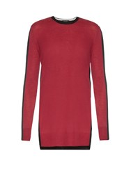 Rag And Bone Verity Bi Colour Cashmere Sweater Burgundy