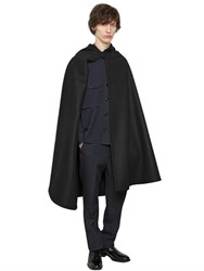 Christophe Lemaire Hooded Melton Wool Cape