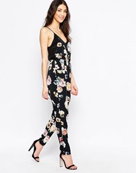 Oh My Love Floral Jumpsuit Midnight Blossom Multi