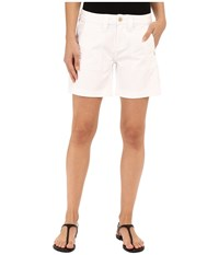 Jag Jeans Somerset Relaxed Fit Shorts In Bay Twill White Women's Shorts