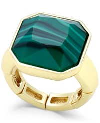 Charter Club Gold Tone Green Stone Drama Stretch Ring Only At Macy's
