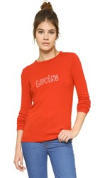 Bella Freud Loving Sweater Red