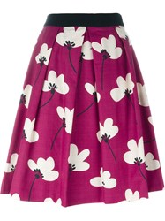 Eggs Floral A Line Skirt Pink And Purple