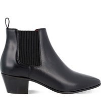 Maje Finae Leather Heeled Chelsea Boots Black