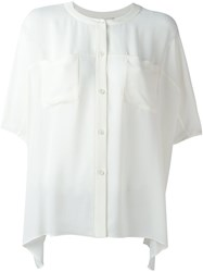 Diane Von Furstenberg Button Up Blouse White
