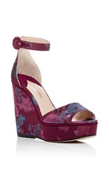 Paul Andrew Adalet Brocade Wedges Purple