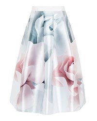 Ted Baker Jolana Porcelain Rose Full Midi Skirt Cream