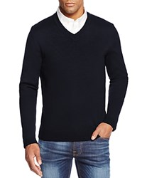 Bloomingdale's The Men's Store At Merino Wool V Neck Sweater Navy