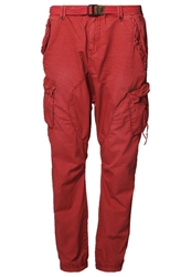 Khujo Lumpy Trousers Crimson Red