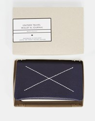 Men's Society Leather Travel Wallet And Journal Multi