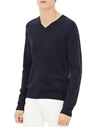 Sandro V Neck Sweater Navy Blue