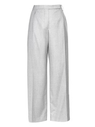 Carven Wide Leg Cropped Wool Trousers