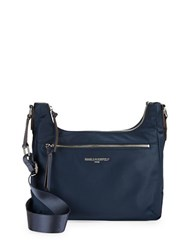 Karl Lagerfeld Nylon Hobo Bag Navy Blue