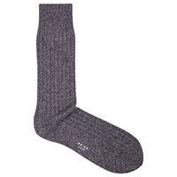 Reiss Cash Ribbed Socks One Size Soft Grey