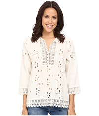 Tolani Tanya Opt 1 Lace Top Ivory Women's Blouse White