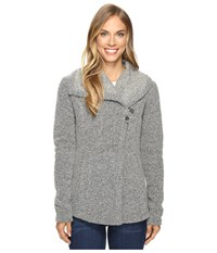 Smartwool Odessa Lake Wrap Light Gray Heather Women's Long Sleeve Pullover