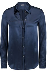 Matthew Williamson Silk Charmeuse Shirt Blue