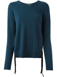 Dorothee Schumacher Round Neck Sweater Blue