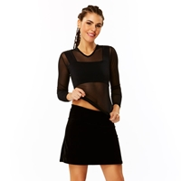 Nightshade Solid Black Basic Spandex Wide By Americandeadstock