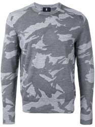 Kent And Curwen Camouflage Slim Fit Jumper Grey