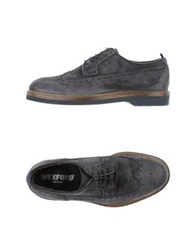 Wexford Lace Up Shoes Slate Blue
