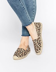 Soludos Original Leopard Espadrille Flat Shoes Multi