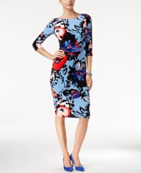 Inc International Concepts Petite Floral Print Sheath Dress Only At Macy's Rose