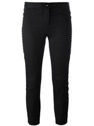 Versace Embroidered Stud Detail Trousers Black
