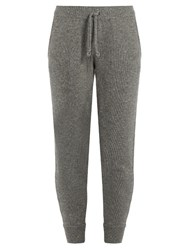 Brunello Cucinelli Sequin Embellished Cashmere Blend Track Pants Dark Grey