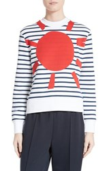 Etre Cecile Women's Sunny Side Up Stripe Graphic Sweatshirt